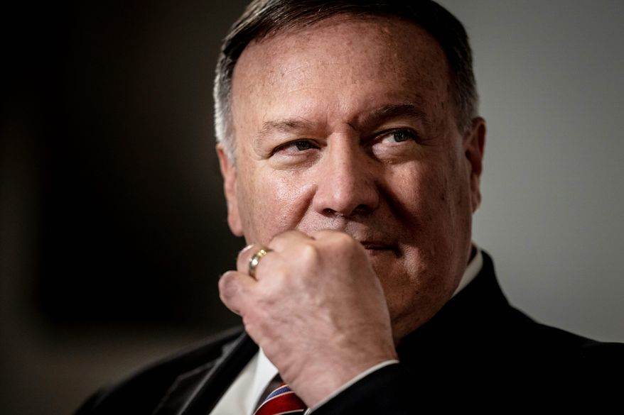 Secretary of State Mike Pompeo said the U.S. government has a responsibility to prevent foreign interference in elections and faulted the Obama administration for its lack of counterintelligence. (Associated Press/File)