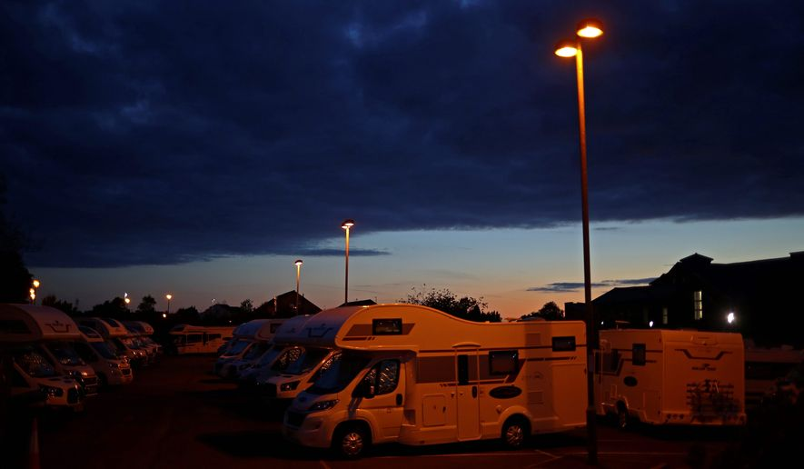 RV sales took a hit from March to May. But sales are now rising as the RV sector allows for greater social distancing opportunities. (ASSOCIATED PRESS)