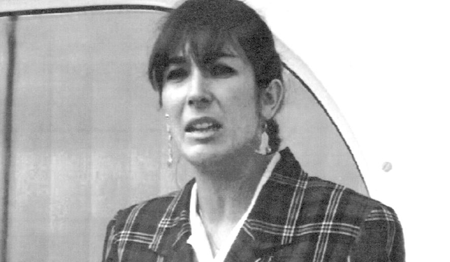 """FILE - In this Nov. 7, 1991, file photo Ghislaine Maxwell, daughter of late British publisher Robert Maxwell, reads a statement in Spanish in which she expressed her family's gratitude to the Spanish authorities, aboard the """"Lady Ghislaine"""" in Santa Cruz de Tenerife. Maxwell has pleaded not guilty to charges that she recruited three girls for financier Jeffrey Epstein to sexually abuse in the 1990s. Epstein took his life in August 2019 at a Manhattan federal jail. Maxwell is held without bail. (AP Photo/Dominique Mollard, File)"""