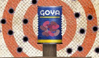 Goya Boycott Attack Illustration by Greg Groesch/The Washington Times