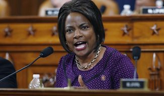 In this Dec. 11, 2019, file photo, Rep. Val Demings, D-Fla., gives her opening statement during a House Judiciary Committee markup of the articles of impeachment against President Donald Trump on Capitol Hill in Washington. Demings is among the women Joe Biden is considering for his vice presidential running mate. (AP Photo/Patrick Semansky, File)