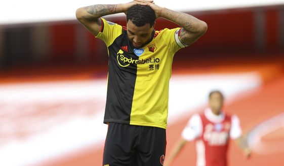 Watford Relegated After Loss At Arsenal Deeney Could Leave Washington Times