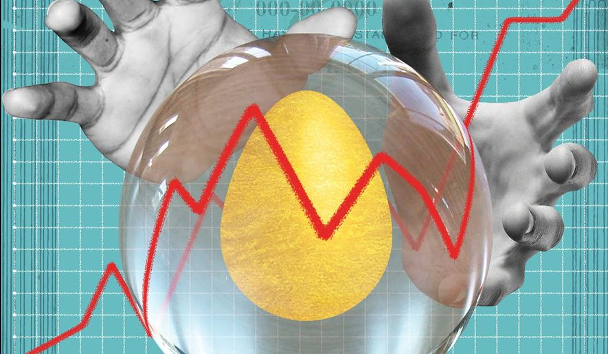 When Social Security faces a shortfall illustration by The Washington Times
