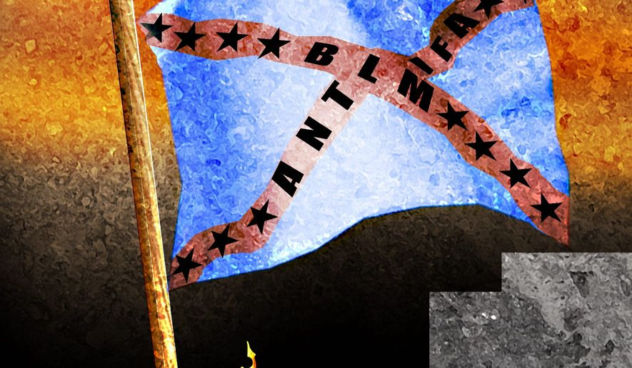 Illustration on the rebellions in the west by Alexander Hunter/The Washington Times