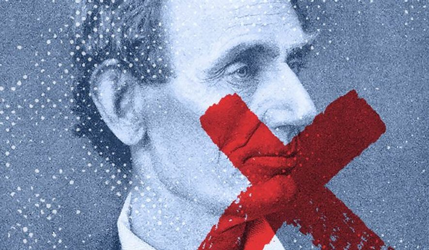Illustration on the rejection of the American Founding by Greg Groesch/The Washington Times