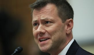 """In this July 12, 2018, file photo, then-FBI Deputy Assistant Director Peter Strzok, testifies before a House Judiciary Committee joint hearing on """"oversight of FBI and Department of Justice actions surrounding the 2016 election"""" on Capitol Hill in Washington. (AP Photo/Manuel Balce Ceneta, File)"""