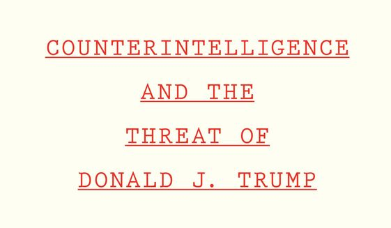"This cover image released by Houghton Mifflin Harcourt Books & Media shows ""Compromised Counterintelligence and the Threat of Donald J. Trump"" by Peter Strzok. (Houghton Mifflin Harcourt Books & Media via AP)"