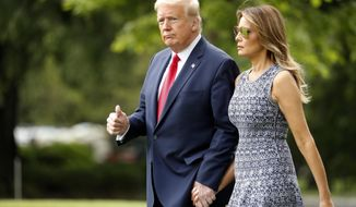 A new poll finds President Trump has a 5 percentage point lead over presumed Democratic presidential nominee Joseph R. Biden. (Associated Press)