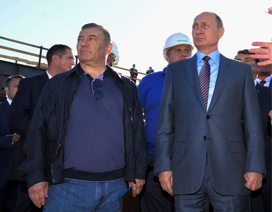 The Senate Permanent Subcommittee on Investigations studied two Russian oligarchs in particular, Arkady (left) and Boris Rotenberg, who are close friends of President Vladimir Putin. They bought at least $18 million in art through shell companies. (Associated Press)