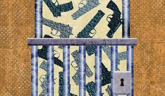 Gun Lockup Illustration by Greg Groesch/The Washington Times