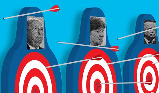 McConnell and Collins placed on Never Trump hit list illustration by The Washington Times