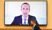 Facebook CEO Mark Zuckerberg testifies remotely during a House Judiciary subcommittee hearing on antitrust on Capitol Hill on Wednesday, July 29, 2020, in Washington. (Mandel Ngan/Pool via AP) ** FILE **