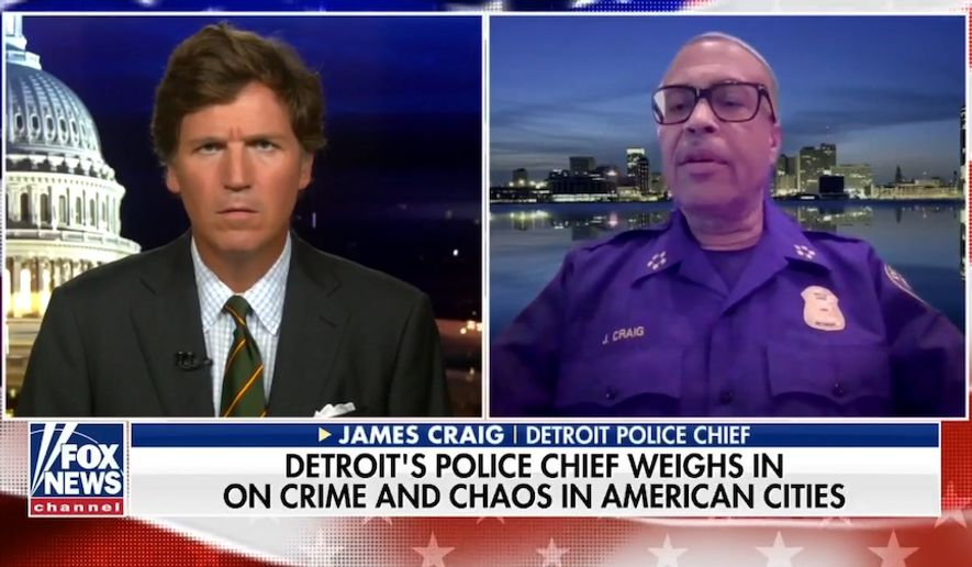 """Detroit Police Chief James Craig said Tuesday, July 28, 2020, his city isn't seeing the riots that are occurring in other major cities across the country, because his police department is supported by the mayor and fellow Detroiters who are """"fed up"""" with the """"misguided radicals"""" fomenting chaos. (screen grab via Fox News)"""