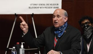 Rep. Louie Gohmert, R-Texas, speaks during a House Judiciary Committee hearing on Capitol Hill in Washington, Wednesday, June 24, 2020, on oversight of the Justice Department and a probe into the politicization of the department under Attorney General William Barr. (AP Photo/Susan Walsh, Pool) ** FILE **