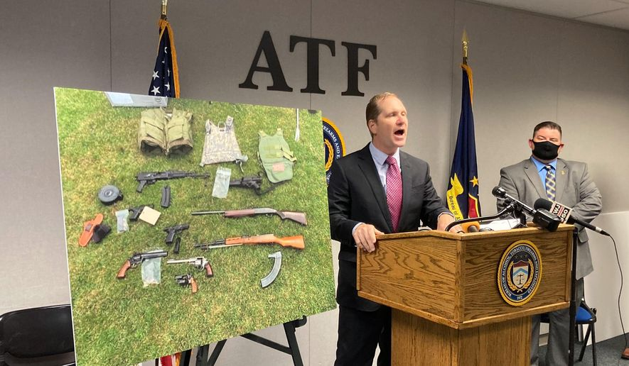 """U.S. Attorney Matthew Schneider announces Wednesday, July 29, 2020, that dozens of federal agents and deputy marshals are being assigned to Detroit to combat gun violence and arrest fugitives. Detroit police said hundreds of guns were seized in a recent four-week period. Schneider added that """"federal troops"""" are not patrolling the streets and he dismissed as """"irresponsible rhetoric"""" any suggestion that the government wants to disrupt lawful protests against racism and excessive police force. (AP Photo/Ed White)"""