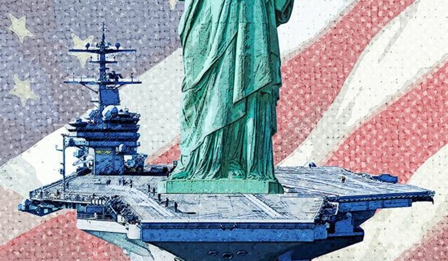 Liberty Base Illustration by Greg Groesch/The Washington Times