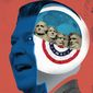 Illustration on informed patriotism by Linas Garsys/The Washington Times