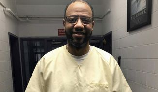This photo provided by attorney Kelley Henry shows Pervis Payne. A district attorney in Tennessee said Thursday, July 30, 2020 that she is fighting a request by the inmate facing execution in December to have a judge order DNA testing of evidence in his case. Shelby County district attorney Amy Weirich said a bag of evidence reviewed by Payne's lawyers in an evidence property room last year came from a different case that has nothing to do with the 1987 stabbings of a woman and her daughter for which Payne was convicted and sentenced to death. (Kelley Henry via AP)