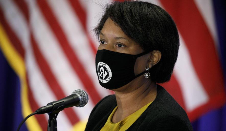 District of Columbia Mayor Muriel Bowser speaks during an announcement that District of Columbia public schools will be all virtual through Nov. 6, during a news conference, Thursday, July 30, 2020, in Washington. (AP Photo/Jacquelyn Martin)