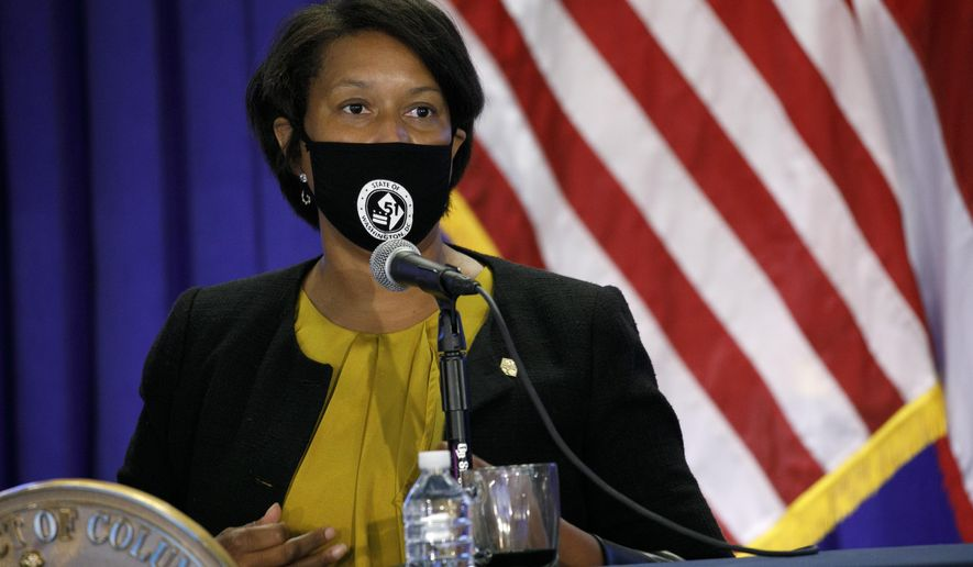 District of Columbia Mayor Muriel Bowser speaks during an announcement that District of Columbia public schools will be all virtual through Nov. 6, during a news conference, Thursday, July 30, 2020, in Washington. (AP Photo/Jacquelyn Martin) **FILE**