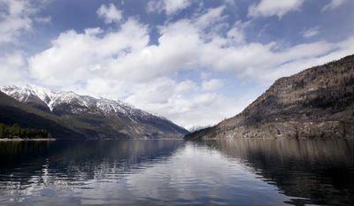 Lake Chelan and the North Cascades are seen near Stehekin, Wash.  (AP Photo/Elaine Thompson)
