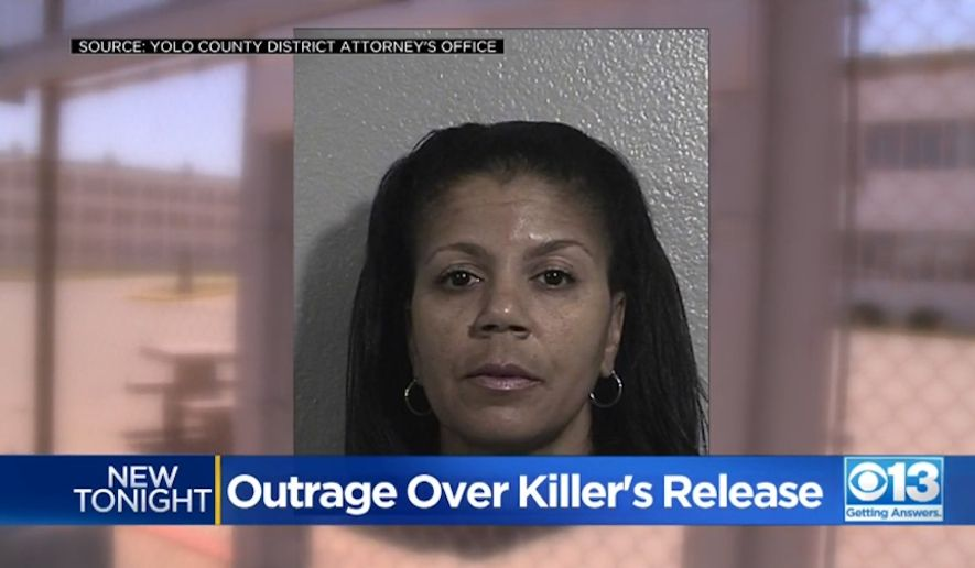 Terebea Williams, a California woman who was convicted of murder in 2001 and sentenced to 84 years-to-life in prison, is now walking free due to an early release over COVID-19 concerns. (screen grab via CBS 13)