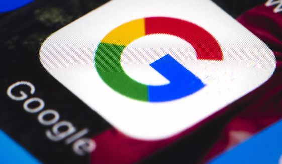 This April 26, 2017, file photo shows the Google mobile phone icon, in Philadelphia. (AP Photo/Matt Rourke) ** FILE **
