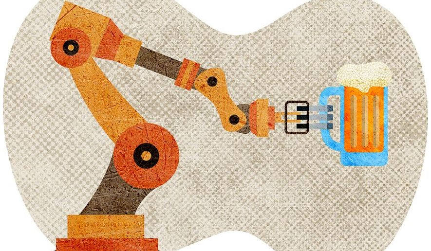 Robotic Server Illustration by Greg Groesch/The Washington Times