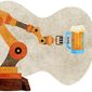 Robotic Server Illustration by Greg Groesch/The Washington Times