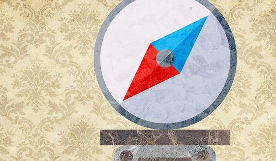 Museum Compass Illustration by Greg Groesch/The Washington Times