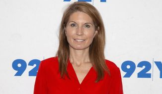 "FILE - Nicolle Wallace poses backstage at the 92nd Street Y on Dec. 9, 2018, in New York. MSNBC has shuffled its daytime lineup, doubling Wallace's workload and moving Chuck Todd's ""Meet the Press Daily"" program from 5 p.m. ET to 1 p.m. Wallace's program will increase by an hour and run from 4 to 6 p.m. Wallace, the former Bush administration communications official and fierce critic of President Donald Trump, had been drawing a bigger audience than Todd. (Photo by Andy Kropa/Invision/AP, File)"