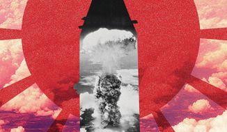 Illustration on Hiroshima by Linas Garsys/The Washington Times