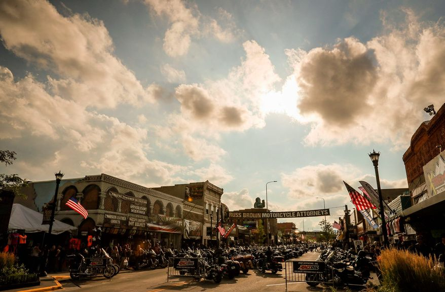 The Sturgis Motorcycle Rally drew nearly 500,000 people to Sturgis, South Dakota, in 2019 and generated $800 million in revenue. Neighbor state officials are concerned about the potential spread of the coronavirus during this year's rally, which starts Friday. Rally officials are not worried. (ASSOCIATED PRESS)