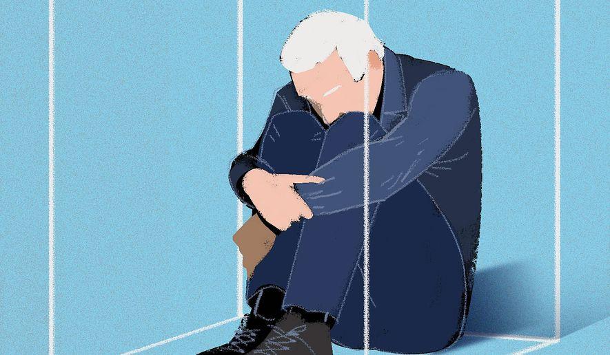 Hidin' Biden stays home illustration by The Washington Times