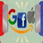 Big Tech Squeeze Illustration by Greg Groesch/The Washington Times