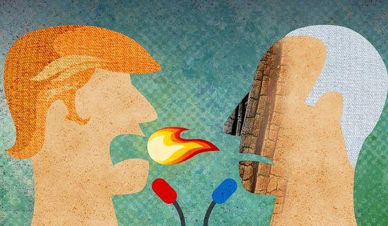 2020 Presidential Debate Illustration by Greg Groesch/The Washington Times