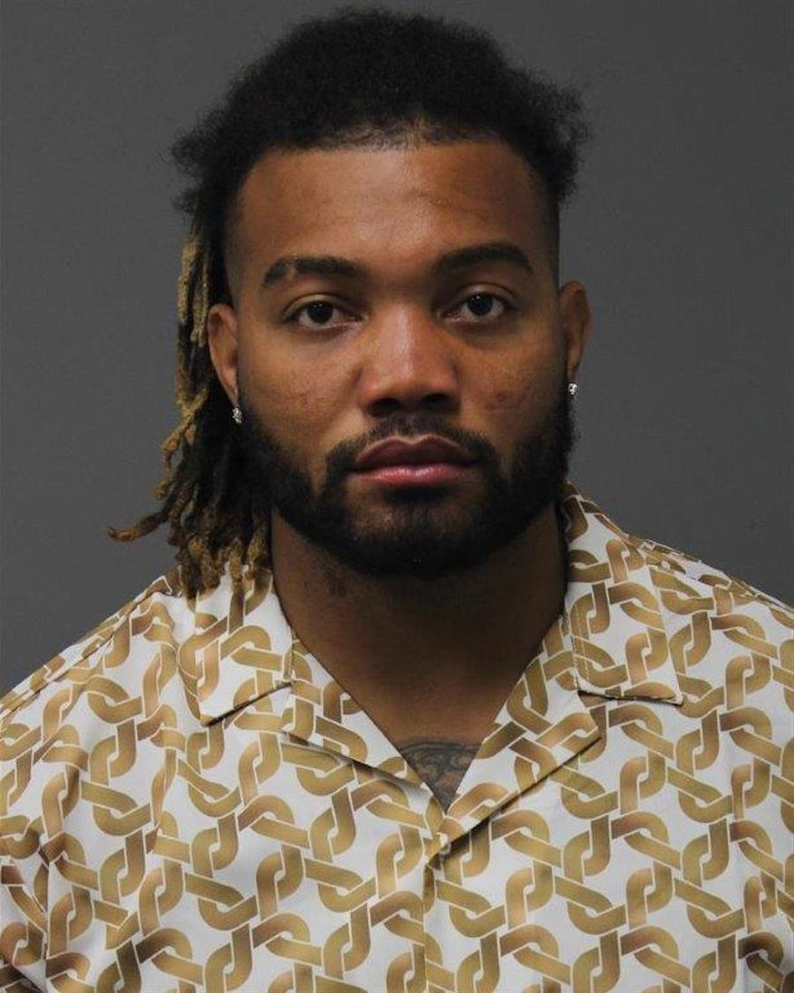 Derrius Guice's mugshot. (Image courtesy of the Loudoun County Sheriff's Office)