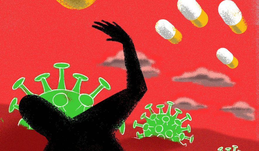 Foreign price controls for prescriptions and medicine illustration by The Washington Times