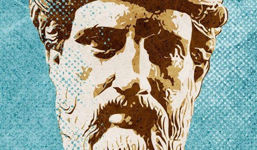 Pythagoras statue illustration by The Washington Times