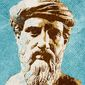 Pythagoras statue illustration by The Washington Times