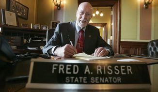 - FILE - In this Jan. 3, 2007 file photo, Wisconsin state Sen. Fred Risser is shown in in Madison, Wis. A seven-way Democratic 2020 primary in Madison to replace state Sen. Fred Risser, who has held the seat since 1962. The primary survivor will win the seat; no Republicans have registered to run. (AP Photo/Andy Manis, File)