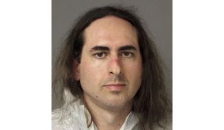 FILE - This June 28, 2018, file photo provided by the Anne Arundel Police shows Jarrod Ramos in Annapolis, Md. A psychiatrist retained by prosecutors can testify about his evaluation of whether the man who killed five people at a Maryland newspaper was legally sane at the time of the attack, a judge ruled Tuesday, Aug. 11, 2020. Ramos has pleaded guilty but not criminally responsible due to mental illness to the June 2018 killings at the Capital Gazette. (Anne Arundel Police via AP, File)