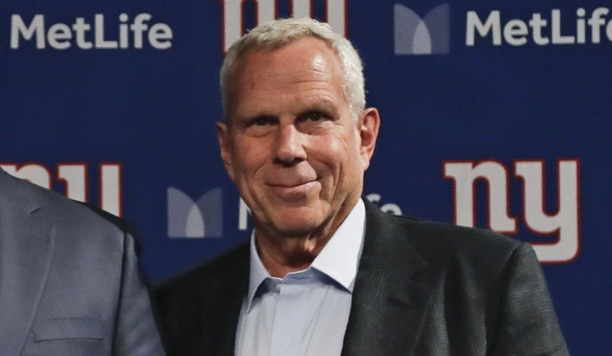 This is a Jan. 9, 2020, file photo showing New York Giants co-owner Steve Tisch after a news conference in East Rutherford, N.J. The 36-year-old daughter of Steve Tisch has died. Hilary Anne Tisch died on Monday, Aug. 10, 2020, Steve Tisch said in a statement issued for the family. The statement did not cite a cause of death or say where she died, but it noted she had battled depression.(AP Photo/Frank Franklin II, File)