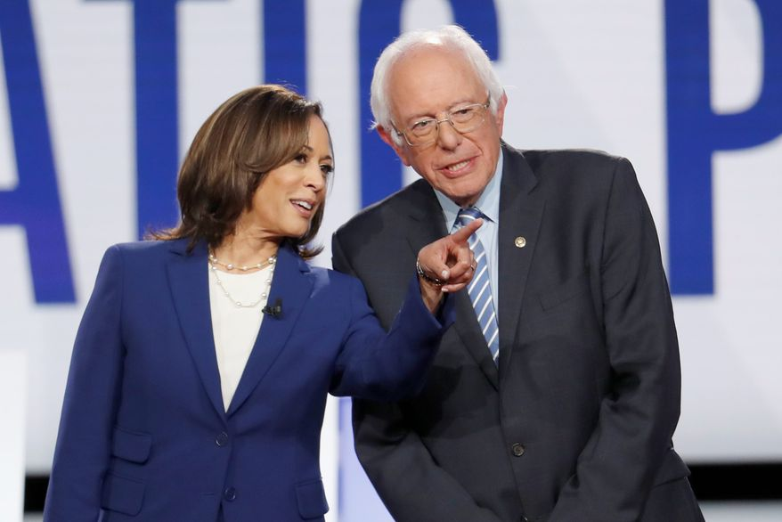 Sen. Kamala D. Harris has come under fire for remarks she made during the debates about health care. She clarified and said she thought it was a personal question. Her comments during The Breakfast Club also had to be clarified. (Associated Press)