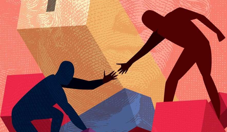 Helping Hand to a Better Job Illustration by Linas Garsys/The Washington Times