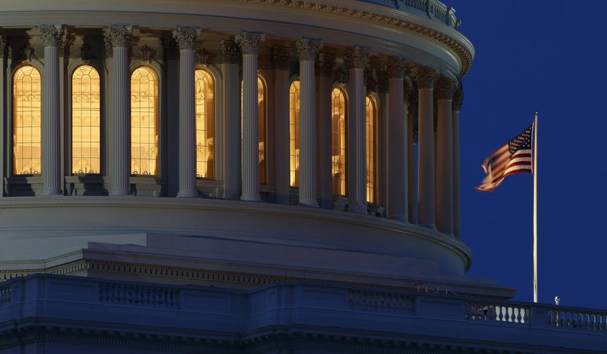 In this July 16, 2019, photo an American flag flies on the Capitol Dome in Washington. (AP Photo/Carolyn Kaster) **FILE**