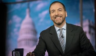 """Some press reports suggest that NBC """"Meet the Press"""" moderator Chuck Todd he could be replaced. (Associated Press)"""