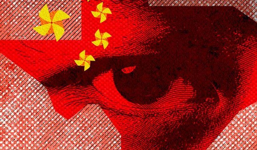 China's Texas Turbines Illustration by Greg Groesch/The Washington Times