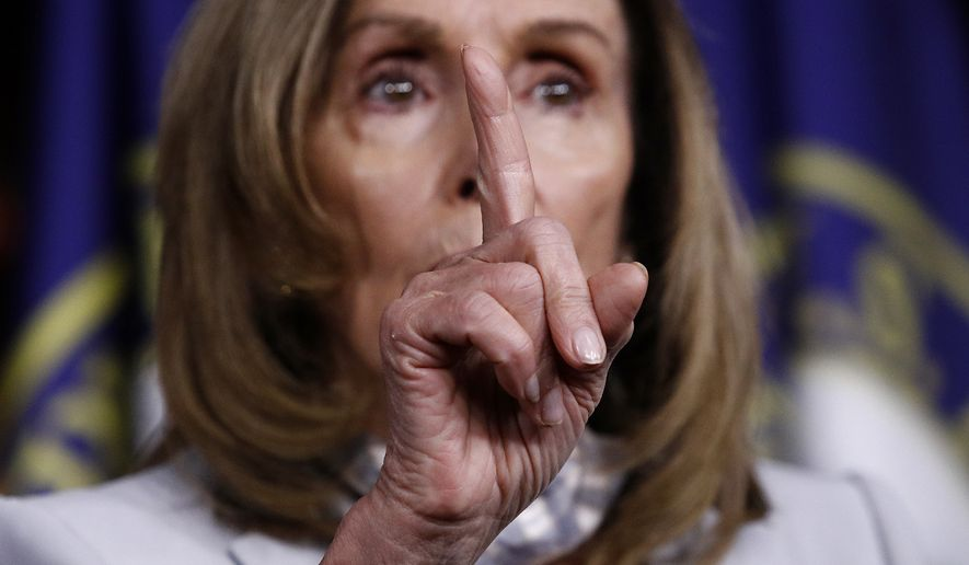 House Speaker Nancy Pelosi of Calif., gestures as she speaks during a news conference on Capitol Hill in Washington, Thursday, Aug. 13, 2020. (AP Photo/Patrick Semansky)