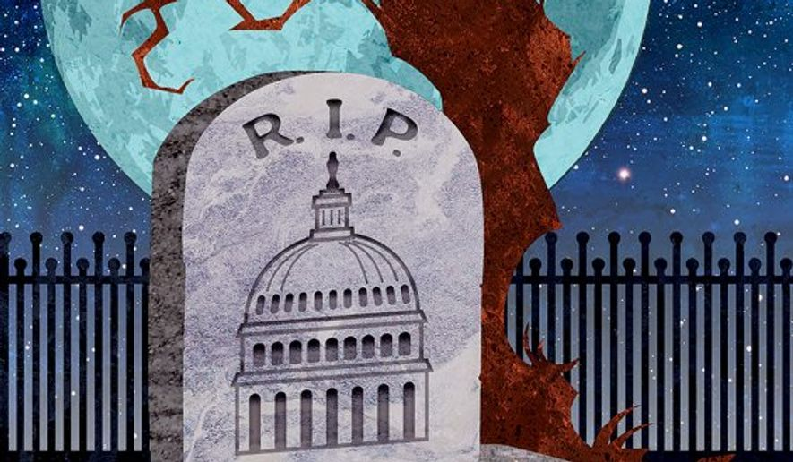 The Death of the Legislative Branch Illustration by Greg Groesch/The Washington Times